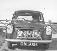 A front view of the Ford Prefect 100E