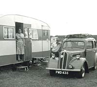 Ford 103E Pop and caravan