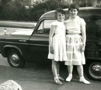 A classic Ford Thames 300e van