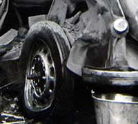 Car destroyed by bombs in WW2
