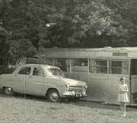 An old coach converted into a holiday home