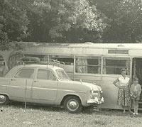 A converted coach body