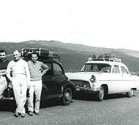 A classic Mk2 Consul and a Minor