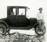 A gent and his Model T Coupe