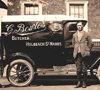 A Model T butcher's van