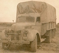 A V8 Ford army truck in the war