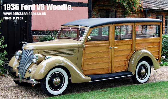 The restored Ford V8 woodie