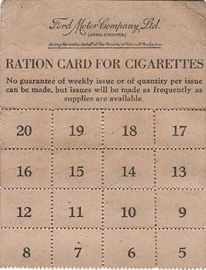 Ford cigarette ration