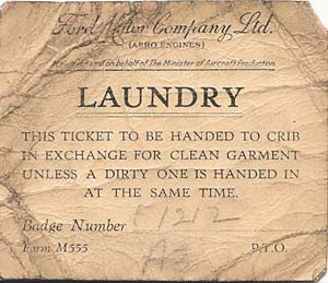Ford Laundry ticket