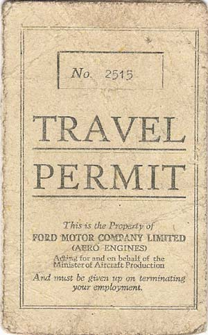 Ford Travel Permit