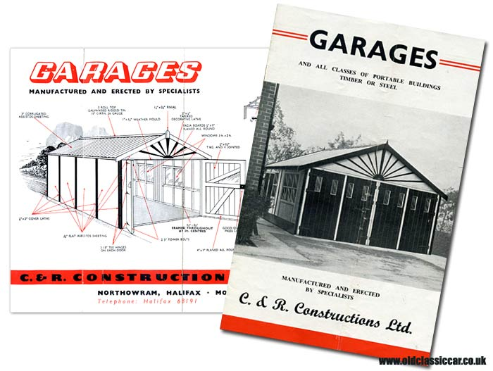 A typical garage building on this leaflet from the 1950s