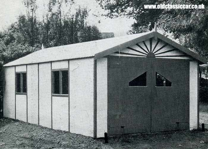 A timber and asbestos car garage of the 1950s