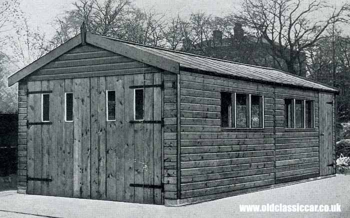 All-timber garage