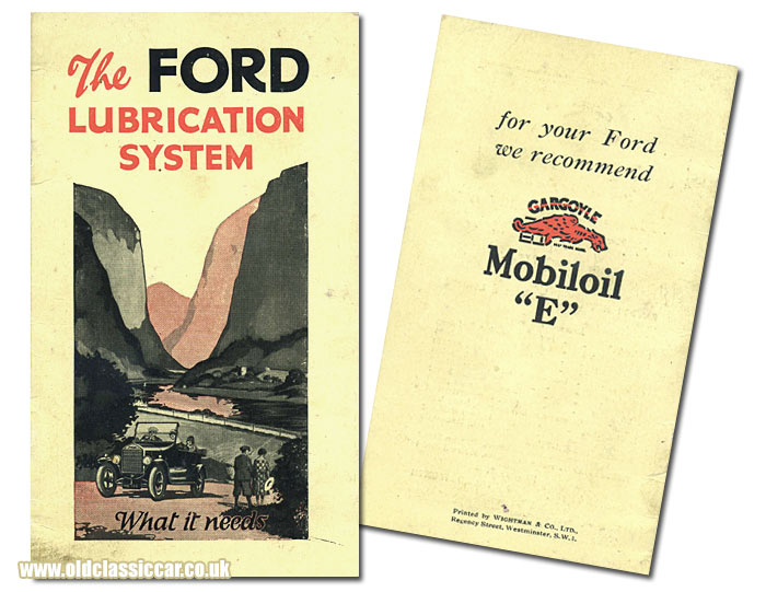 Gargoyle Mobiloil lubricant booklet for the Ford Model T