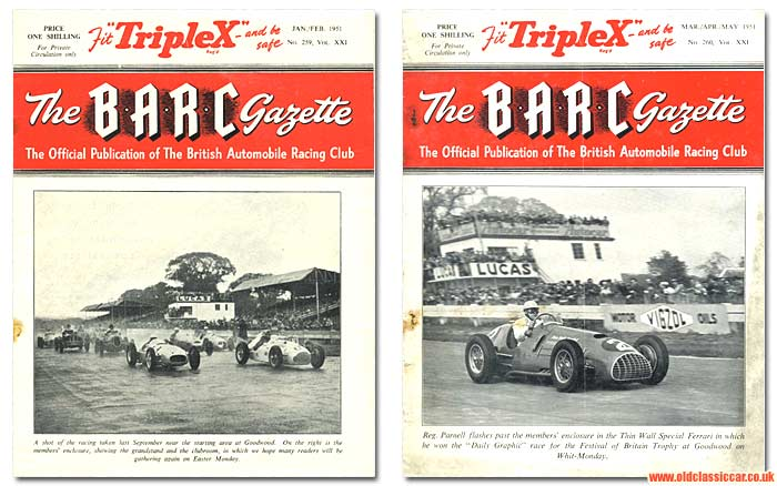 The BARC Gazette motor racing club magazine