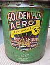 A Morris' Golden Film oil tin