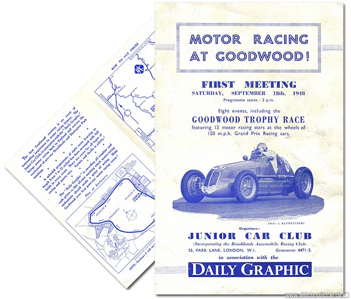 First race meeting held at Goodwood in 1948