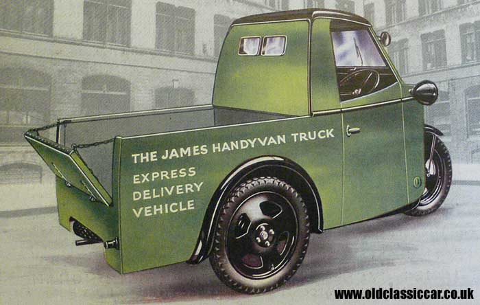 A Handyvan pickup truck of the 1930s