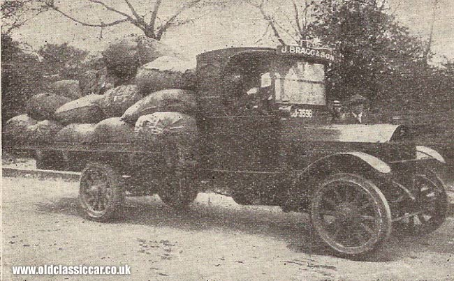 Wooden-wheeled lorry from the 1920s