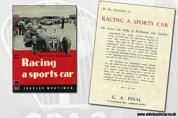 Book about Healey Silverstone sports cars