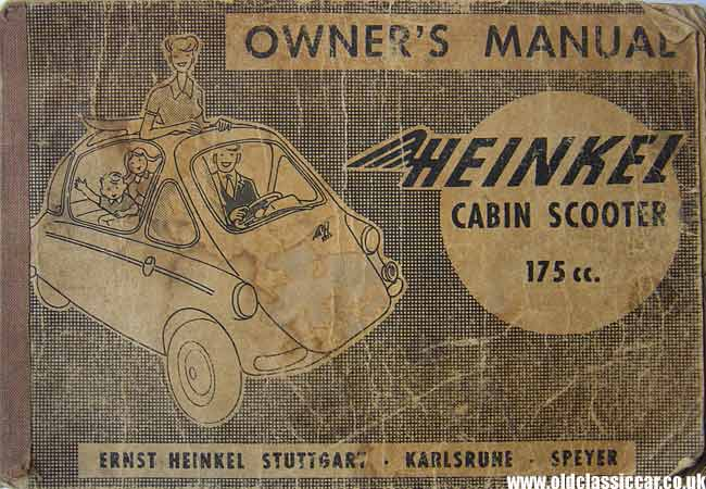 Manual for the Heinkel bubble car - 175cc cabin scooter