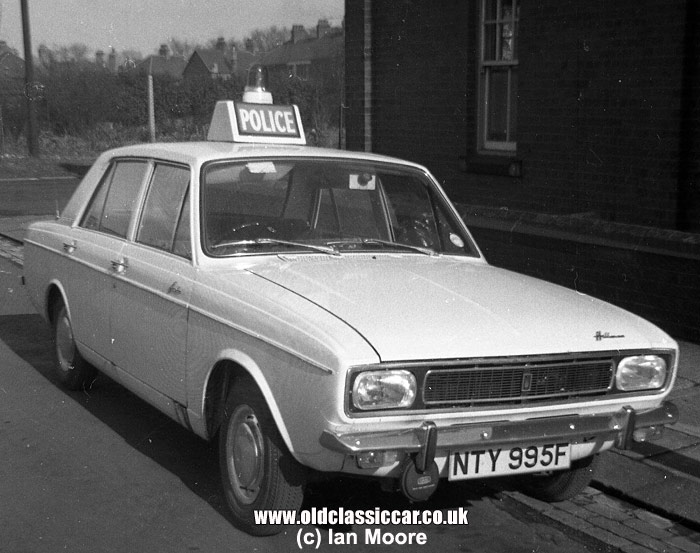 1968 Hillman Hunter Police car
