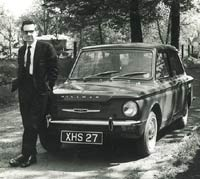 Frontal view of the Hillman Imp