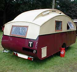 A great example of a vintage 1930s caravan!