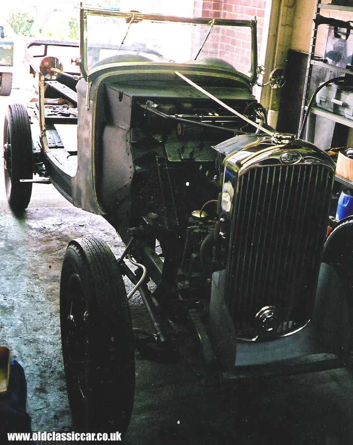 Humber 12hp car under restoration