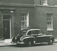 A Humber parked in Downing Street London