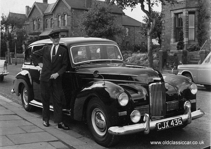 A Humber Pullman Limousine With Chauffeur In The 1950s