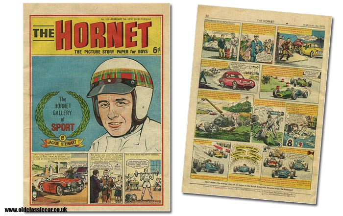 A comic featuring racing driver Jackie Stewart