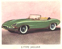 Jaguar E-Type sportscar sticker