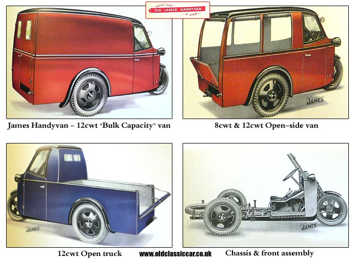 Period images of the James Handyvan
