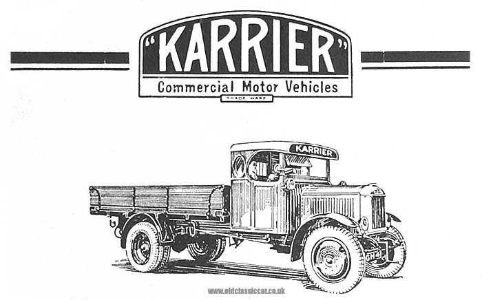A vintage Karrier lorry