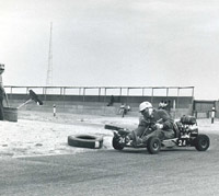 Another historic kart racing scene