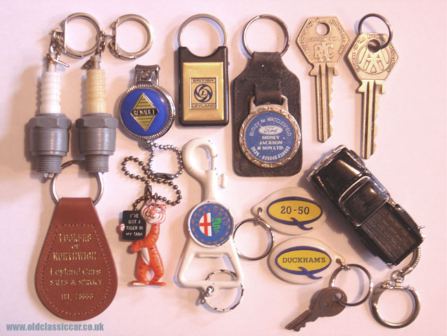 Various old keyrings