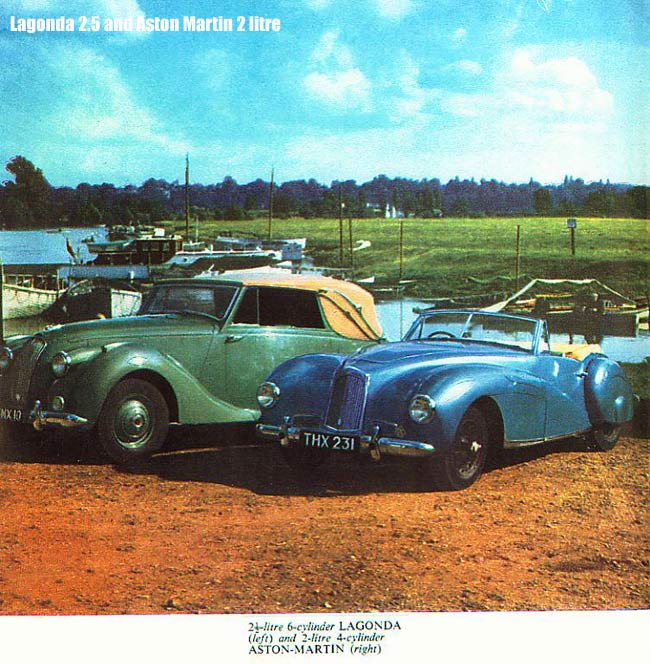 Drophead Lagonda and Aston