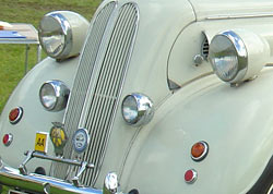 optional car spotlamps
