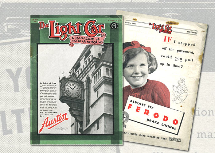Front cover of The Light Car magazine from 1943