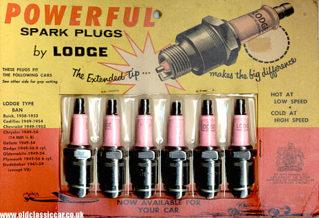 Packet of Lodge spark plugs