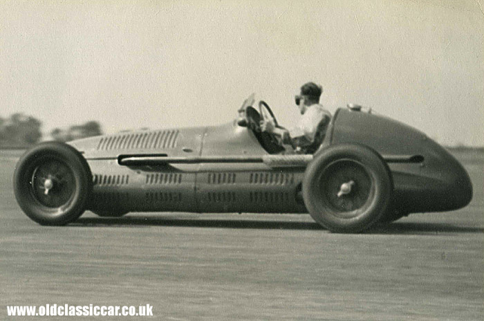 L Brooke in his 4CLT Maserati GP car