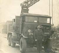 An AEC Matador lorry serving with the RAF at North Weald