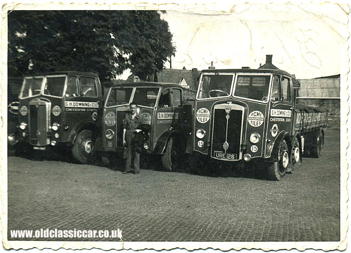 Two Maudslay lorries used to deliver ACME tiles
