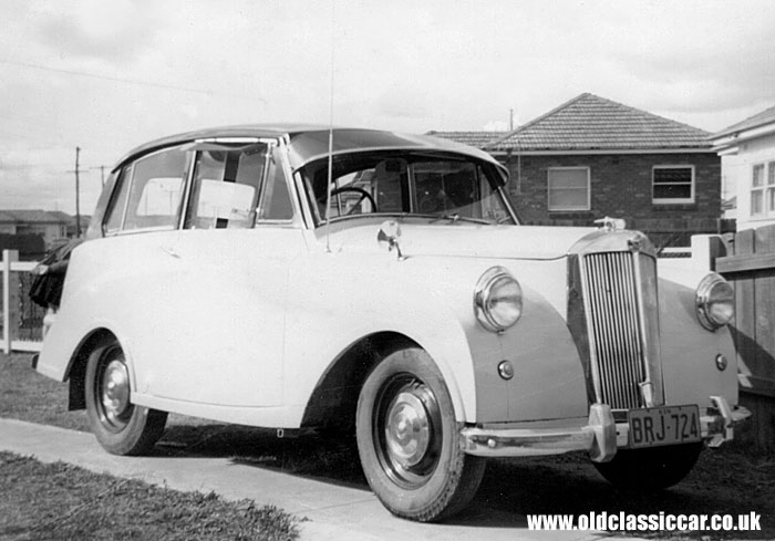 A post-war Triumph Mayflower car