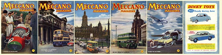 Sample Meccano covers from the 1950s
