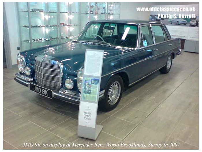 The 300SEL at Mercedes Benz World