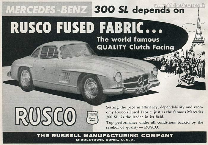 Mercedes-Benz 300SL gullwing advertisement