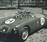 Racing MGA roadster