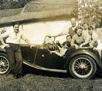 1947 MG TC and a family